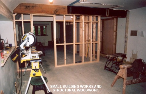 Small building works and structural woodwork