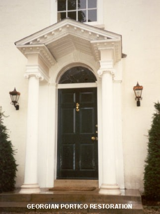 Georgian portico restoration