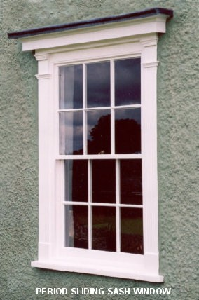 Period sliding sash window